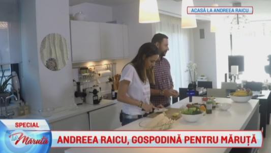 Andreea Raicu a gatit pentru Catalin Maruta